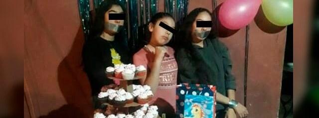 Niña festeja su cumpleaños como sicaria, padres la consienten