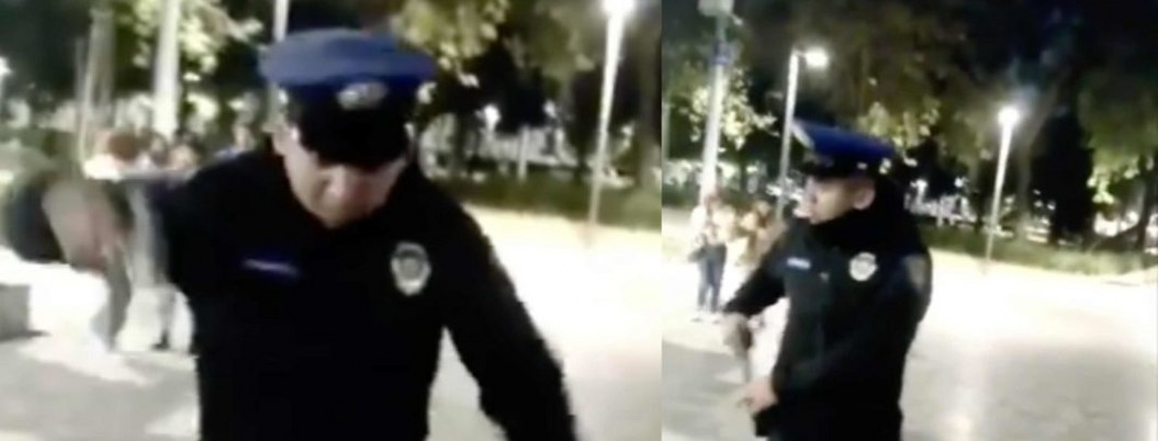 VIDEO| Policía amenaza con dispararle a perro que lo mordió