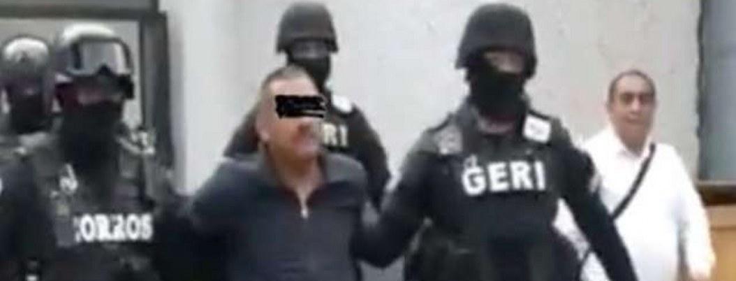 """""""El Viejón"""" jefe de sicarios de CJNG es trasladado a la SIEDO"""