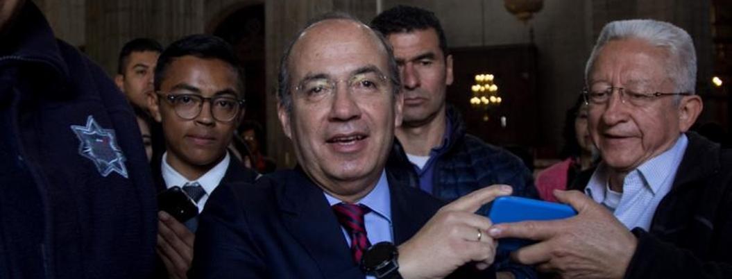 Calderón compartió mesa con los mandamás de Odebrecht