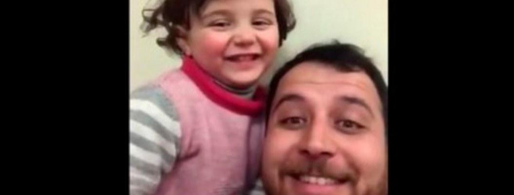 """""""Bombas son un juego"""": padre sirio justifica guerra a su bebé"""