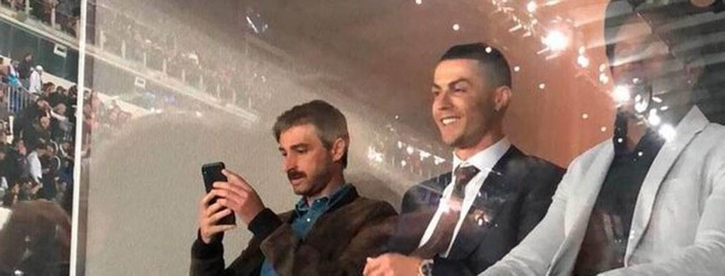 Cristiano Ronaldo, en palco del Bernabéu para ver clásico