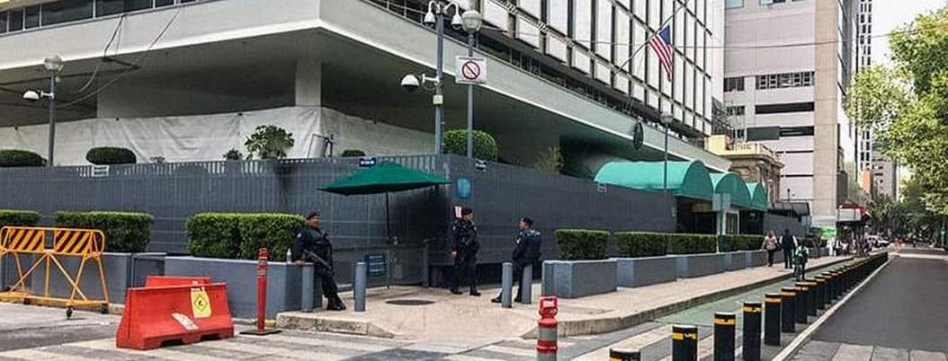 Embajada de EU en México suspende servicios por COVID-19
