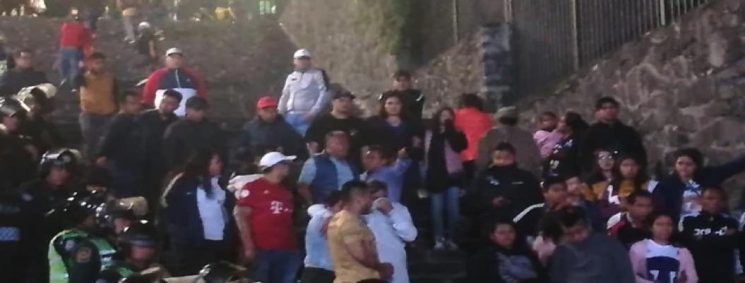 Pumas vs América: porra de la UNAM intentó dar portazo