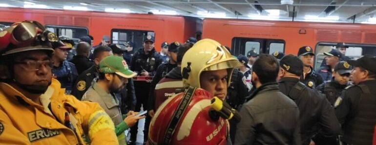Fiscalía investiga choque de trenes en MetroTacubaya