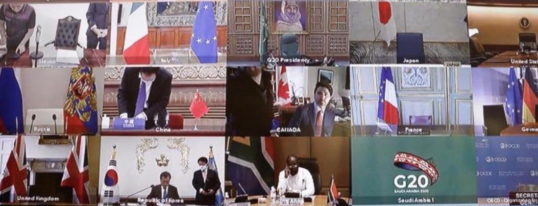 Líderes del G-20 dialogan virtualmente sobre el Covid-19