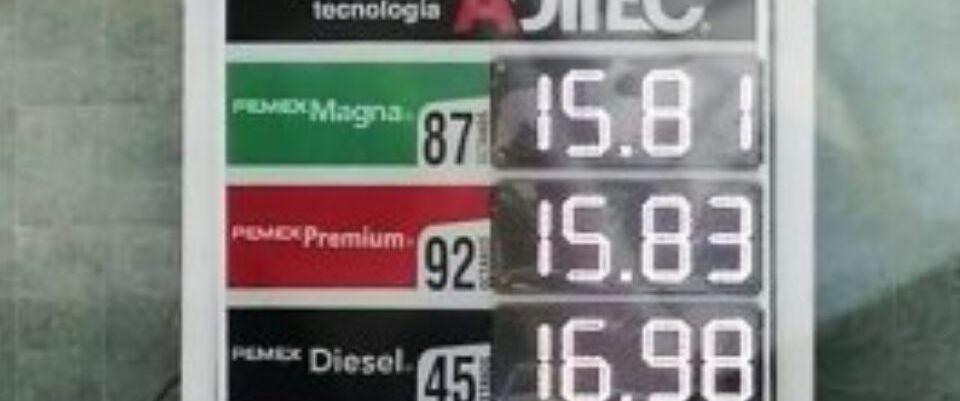 Estados venden gasolina en 15 pesos por caída de petroprecios