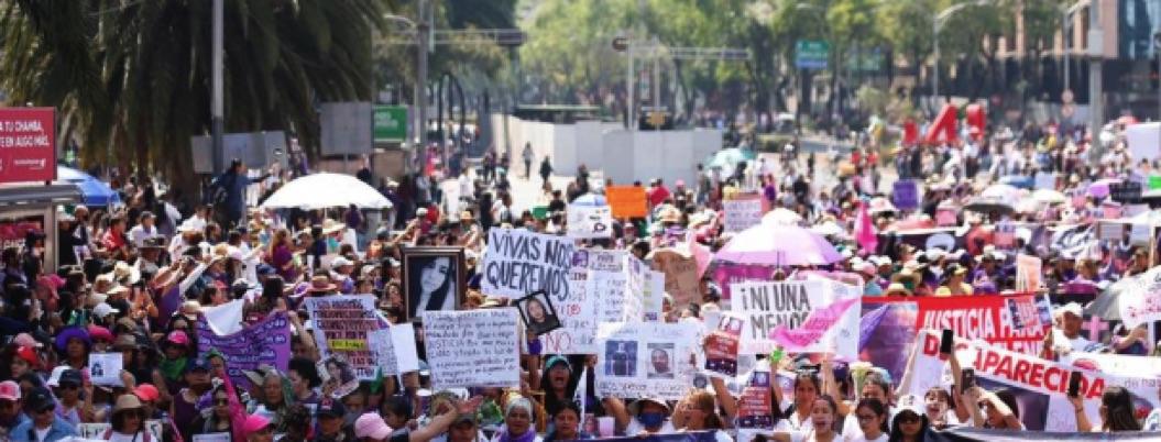 Marchas feministas por Día de la Mujer inicia en la CDMX