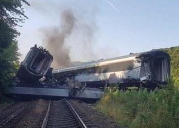 tren descarrila en Escocia