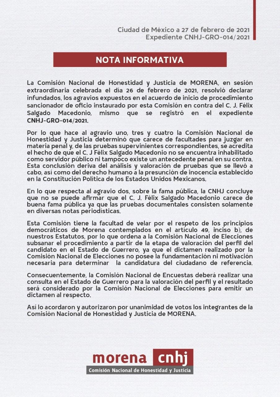 Morena hará consulta en Guerrero para valorar el perfil de Félix Salgado, informa 4