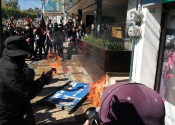 Incendian, pintan y destrozan, en repudio a Félix Salgado en Chilpancingo 6