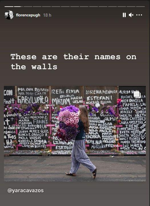 Florence Pugh reacciona en sus redes a los feminicidios en México 3