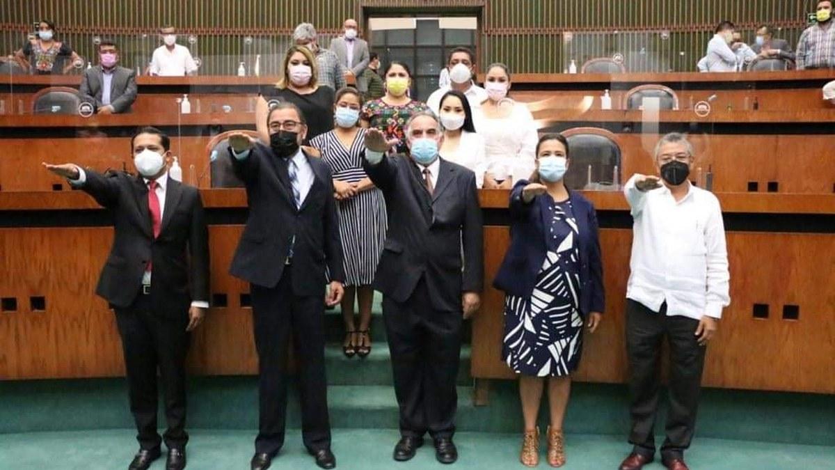 Diputados de Morena validan 13 magistrados propuestos por Astudillo y les toman protesta 2