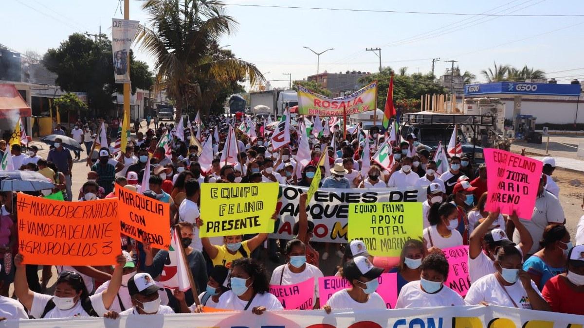 Alianza PRI-PRD se consolida en Montaña y Costa Chica; Mario Moreno toca corazones 3