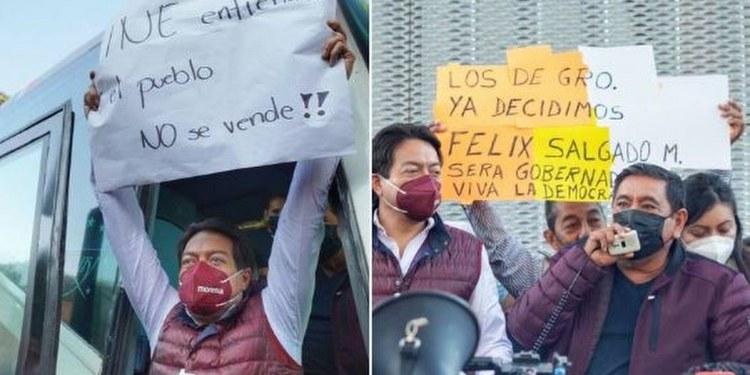 Félix Salgado mantendrá plantones en INE y TEPJF; Morena dará dinero para las protestas 1