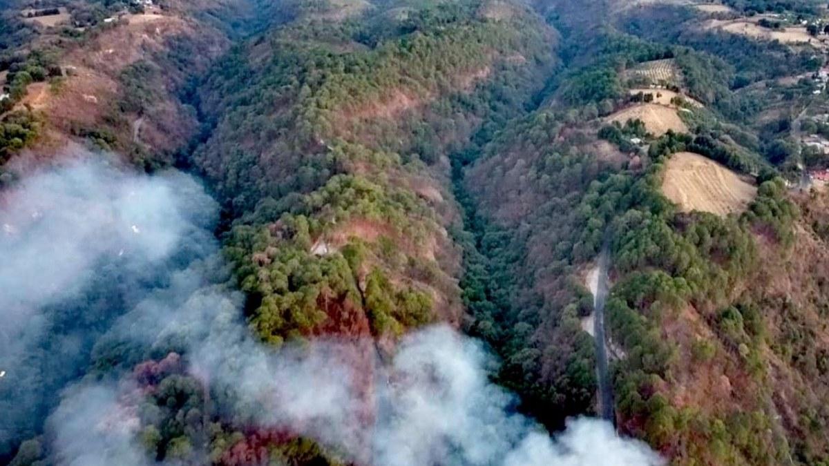 Combaten 10 incendios forestales en distintos municipios de Morelos 1