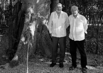 AMLO y Slim evalúan avances de la construcción del Tren Maya 2