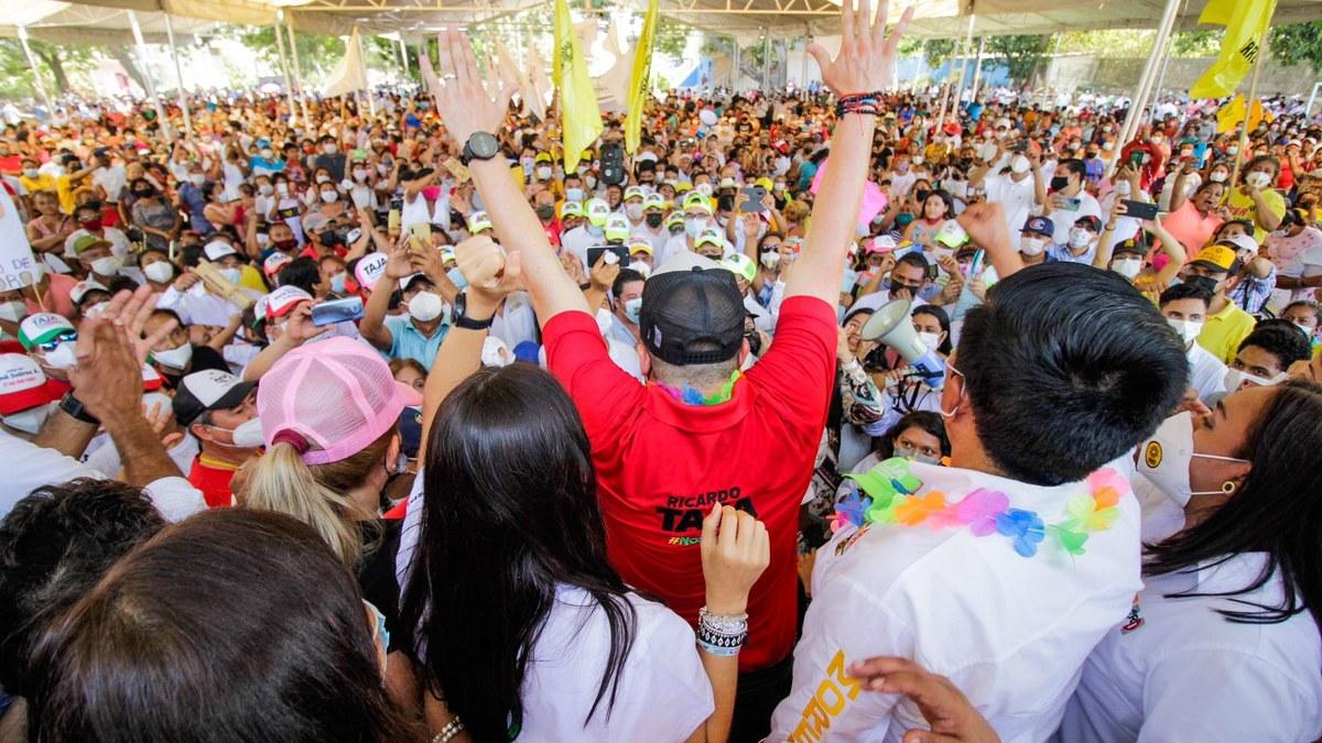 Ricardo Taja cierra campaña con enorme ventaja en los 7 distritos electorales de Acapulco 5