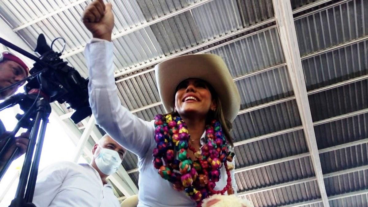 Evelyn Salgado arranca campaña opacada por su padre, lee discurso de 20 minutos 1