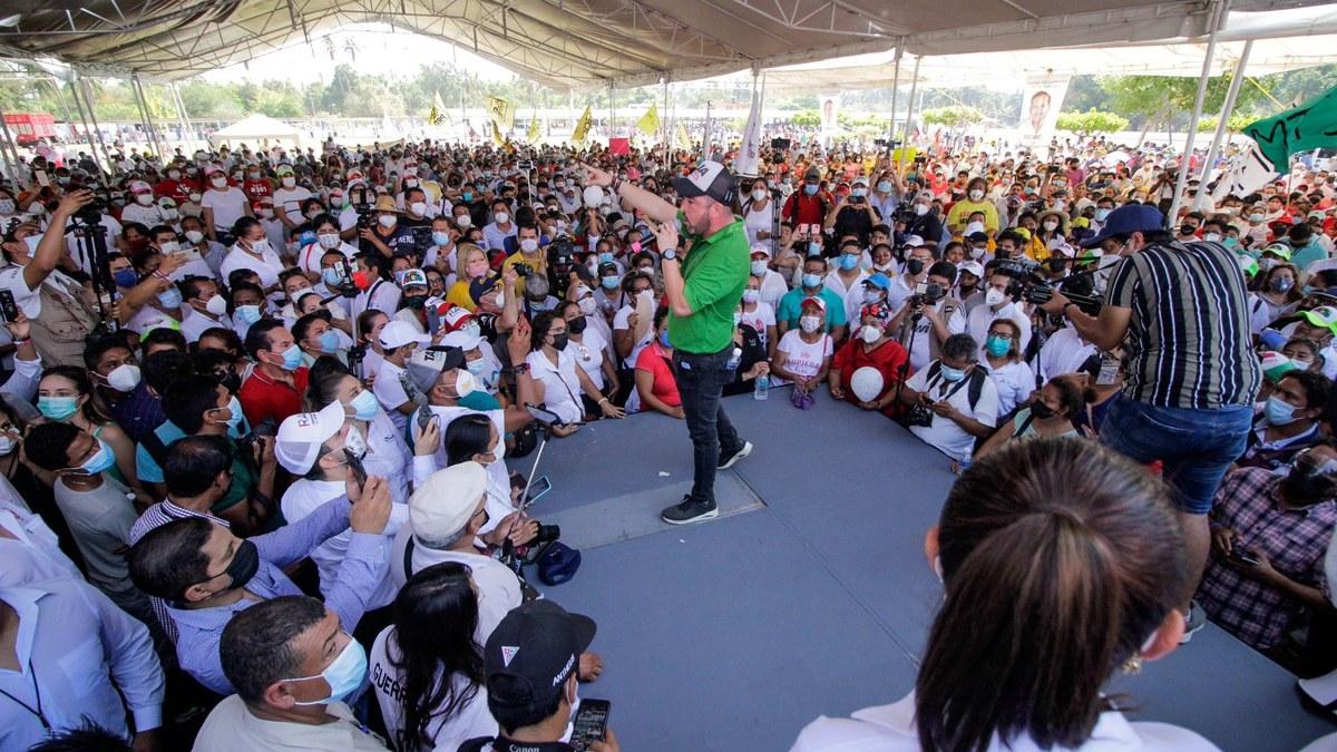 Ricardo Taja cierra campaña con enorme ventaja en los 7 distritos electorales de Acapulco 2