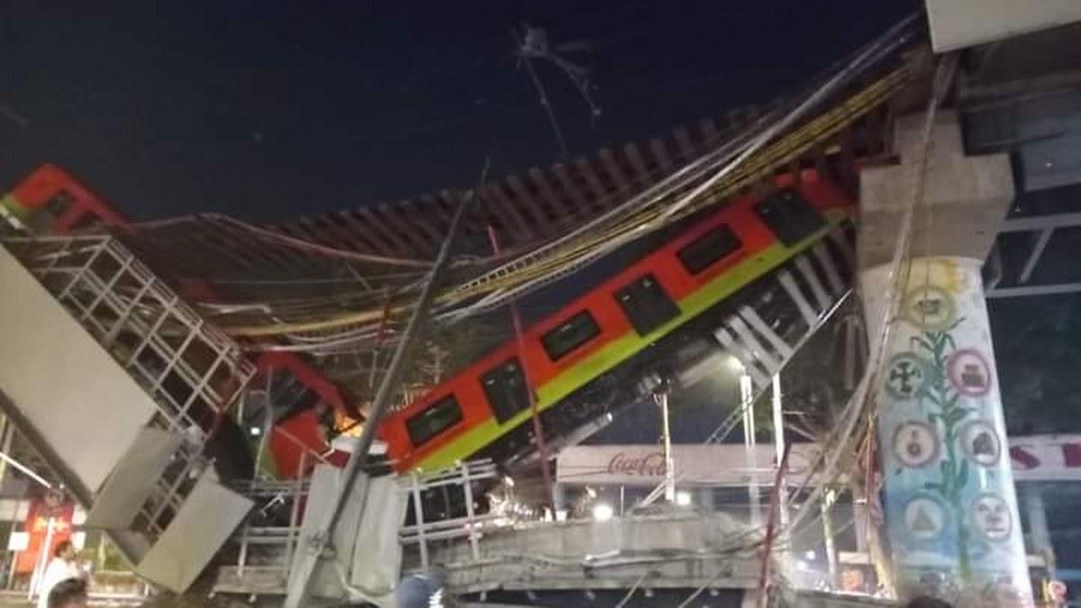 """Se desploma """"ballena"""" y tren del metro Olivos de la Línea 12 Dorada; hay muertos y heridos 2"""