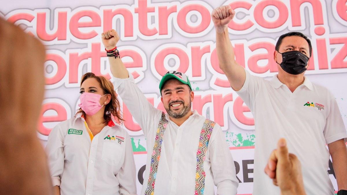 Ricardo Taja y Mario Moreno reciben apoyo masivo de transportistas en Acapulco 2