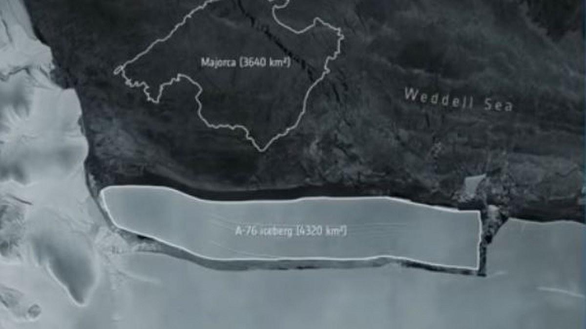 El iceberg más grande del mundo se desprende de la Antártida 1