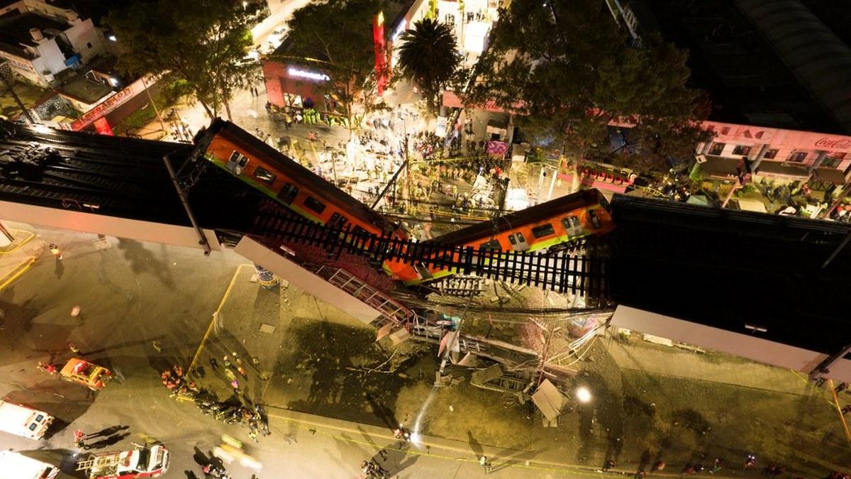 Las impactantes imágenes del accidente de la Línea 12 del Metro 1
