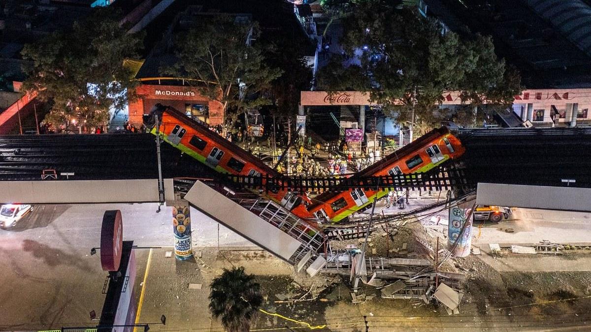 Las impactantes imágenes del accidente de la Línea 12 del Metro 9