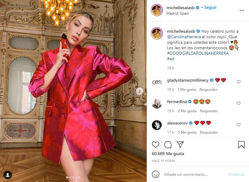 Michelle Salas muestra su lado provocativo con elegante saco   FOTO 1