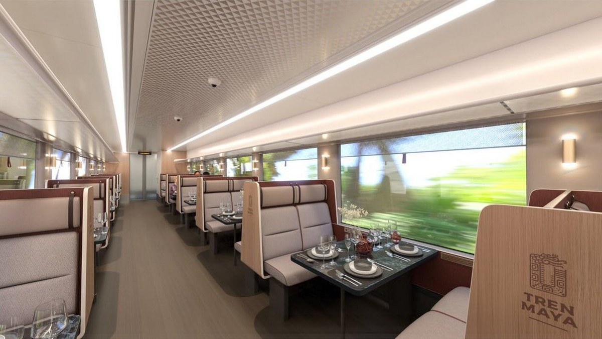 Conoce los lujos y servicios que tendrán los vagones del Tren Maya 2