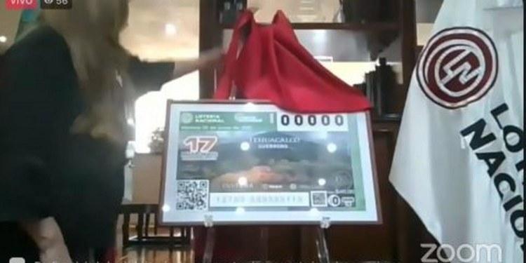 Lotería Nacional imprime billete con imagen de sitio arqueológico de Guerrero 1