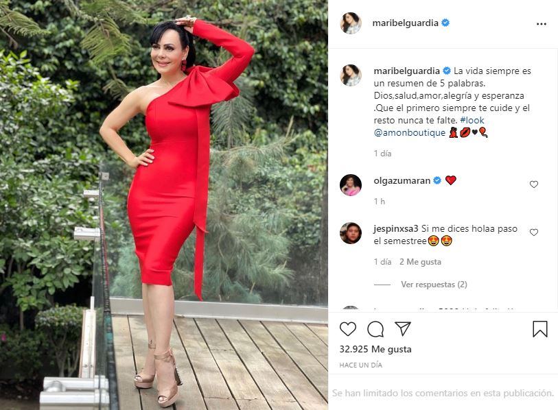 Maribel Guardia luce cinturita con entallado vestido rojo   FOTO 2