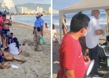 Turistas violan cierre de playas en Acapulco; los desalojan 5