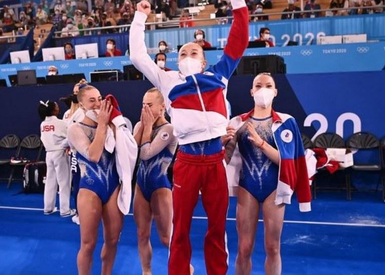 Tokio 2020: Rusia gana oro en gimnasia artística tras retiro de Simone Biles 55