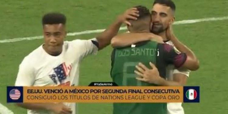 Jonathan dos Santos llora y jugador de EU lo consuela | VIDEO 1