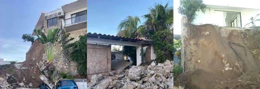 Casa de la actriz Sylvia Pasquel en Acapulco sufrió severos daños por sismo de 7.1 4