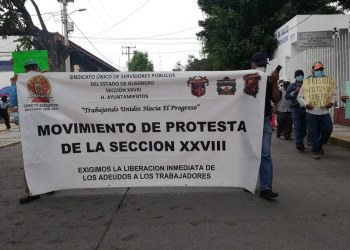 Chilpancingo: marchan paristas de Servicios Públicos, exigen pagos a Toño Gaspar 7