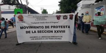 Chilpancingo: marchan paristas de Servicios Públicos, exigen pagos a Toño Gaspar 6