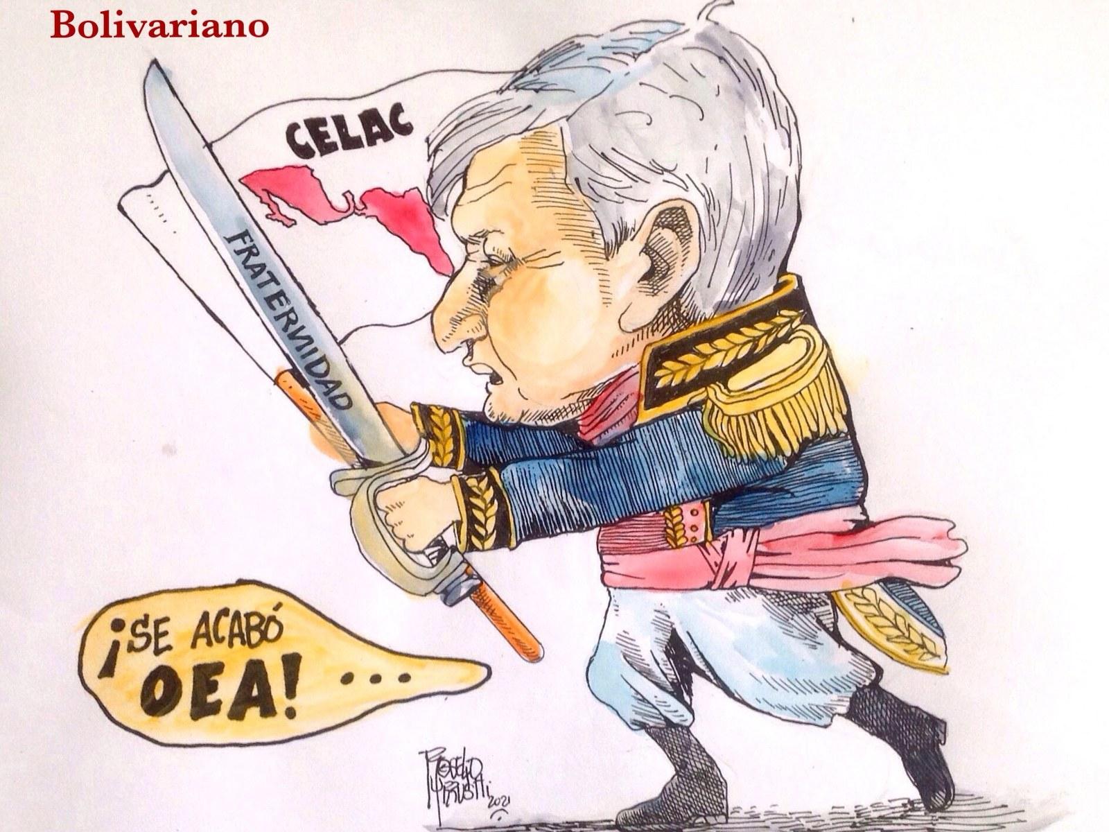Cartón de Urrusti | AMLO el bolivariano 2
