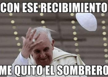 El papa llega a mexico