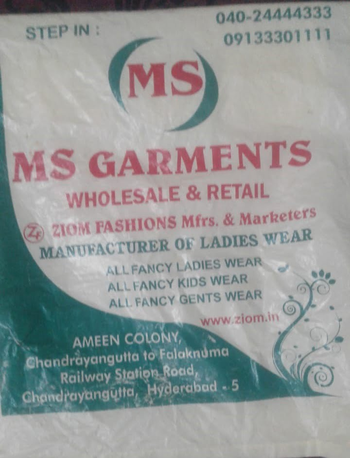 MS Garments Chandrayangutta falaknuma hyderabad garments