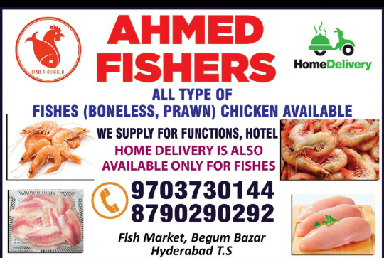 Ahmed Fishers begum bazar hyderabad