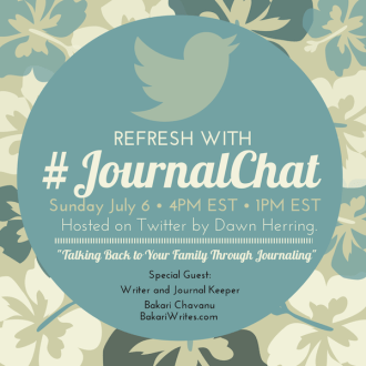 Join Me on #JournalChat This Sunday