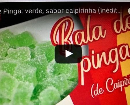 Bala de Gelatina ou Bala de Pinga - Cor verde