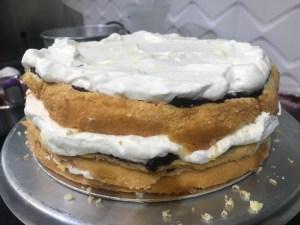 montagem do bolo