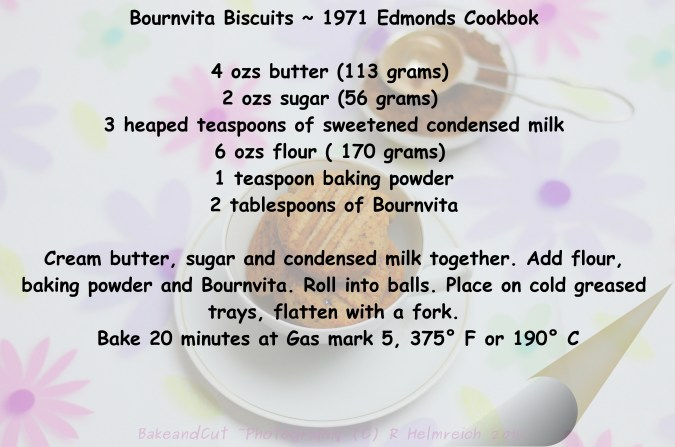 Edmonds Bournvita Biscuits ~ 1971 Cookbook