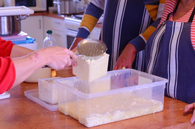 Cheese making at Stroudover cottage.