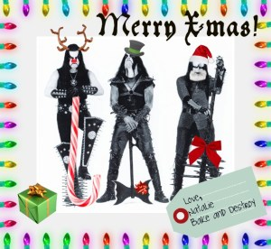Immortal black metal Christmas