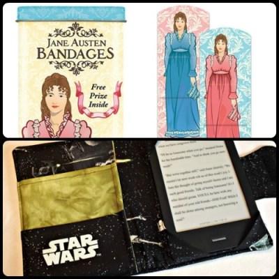 Jane Austen bandages Star Wars Kindle case